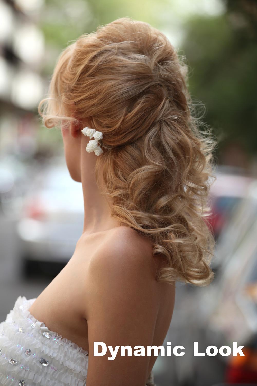 Peinado de novia semirecogido en dynamic look javier ruiz