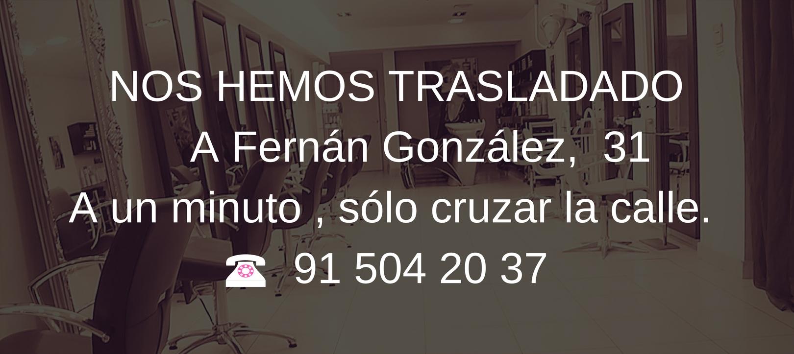NOS HEMOS TRASLADADO A Fernan Gonzalez 31 A un minuto , solo cruzar la calle. Tel, 91 504 20 37