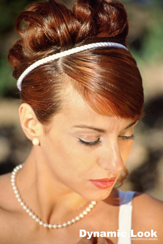Peinados novia melena